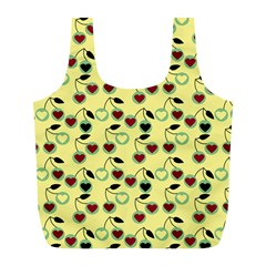 Yellow Heart Cherries Full Print Recycle Bags (l)  by snowwhitegirl