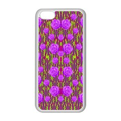 Roses Dancing On A Tulip Field Of Festive Colors Apple Iphone 5c Seamless Case (white) by pepitasart
