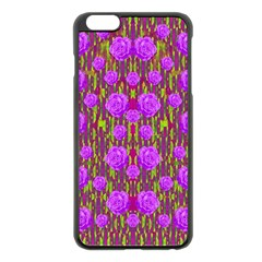 Roses Dancing On A Tulip Field Of Festive Colors Apple Iphone 6 Plus/6s Plus Black Enamel Case by pepitasart