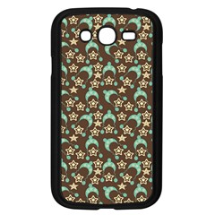 Brown With Blue Hats Samsung Galaxy Grand Duos I9082 Case (black) by snowwhitegirl