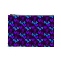 Night Cherries Cosmetic Bag (large)  by snowwhitegirl