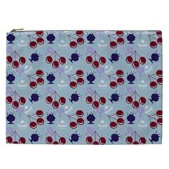 Sky Cherry Cosmetic Bag (xxl)  by snowwhitegirl