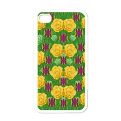 Roses Dancing On  Tulip Fields Forever Apple Iphone 4 Case (white) by pepitasart