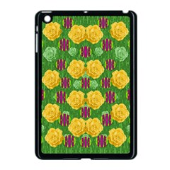 Roses Dancing On  Tulip Fields Forever Apple Ipad Mini Case (black) by pepitasart