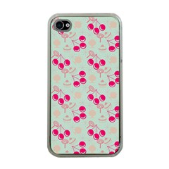 Bubblegum Cherry Apple Iphone 4 Case (clear) by snowwhitegirl