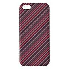 Brownish Diagonal Lines Iphone 5s/ Se Premium Hardshell Case by snowwhitegirl