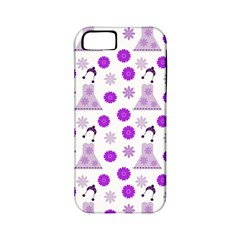 Lilac Dress On White Apple Iphone 5 Classic Hardshell Case (pc+silicone) by snowwhitegirl