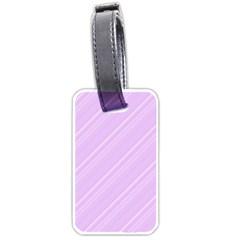 Lilac Diagonal Lines Luggage Tags (two Sides) by snowwhitegirl