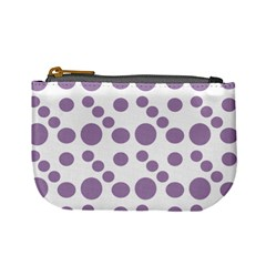 Violet Dots Mini Coin Purses by snowwhitegirl