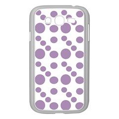Violet Dots Samsung Galaxy Grand Duos I9082 Case (white) by snowwhitegirl