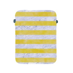 Stripes2white Marble & Yellow Watercolor Apple Ipad 2/3/4 Protective Soft Cases by trendistuff