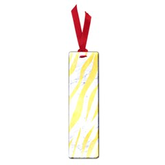 Skin3 White Marble & Yellow Watercolor (r) Small Book Marks by trendistuff