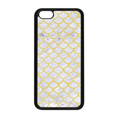 Scales1 White Marble & Yellow Watercolor (r) Apple Iphone 5c Seamless Case (black) by trendistuff
