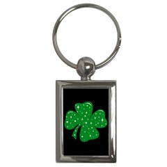 Sparkly Clover Key Chains (rectangle)  by Valentinaart