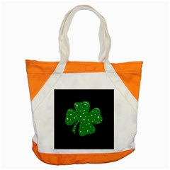 Sparkly Clover Accent Tote Bag by Valentinaart