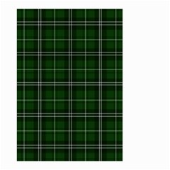 Green Plaid Pattern Small Garden Flag (two Sides) by Valentinaart