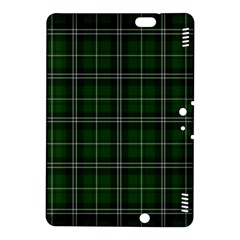 Green Plaid Pattern Kindle Fire Hdx 8 9  Hardshell Case by Valentinaart