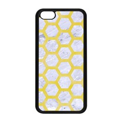 Hexagon2 White Marble & Yellow Watercolor (r) Apple Iphone 5c Seamless Case (black) by trendistuff