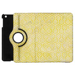 Hexagon1 White Marble & Yellow Watercolor Apple Ipad Mini Flip 360 Case