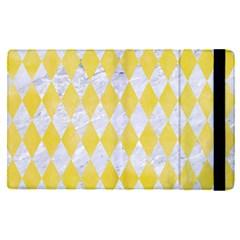 Diamond1 White Marble & Yellow Watercolor Apple Ipad Pro 9 7   Flip Case by trendistuff