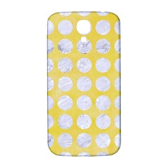 Circles1 White Marble & Yellow Watercolor Samsung Galaxy S4 I9500/i9505  Hardshell Back Case by trendistuff