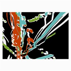Multicolor Abstract Design Large Glasses Cloth by dflcprints