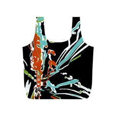 Multicolor Abstract Design Full Print Recycle Bags (s)  by dflcprints