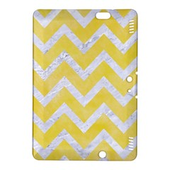 Chevron9 White Marble & Yellow Watercolor Kindle Fire Hdx 8 9  Hardshell Case by trendistuff