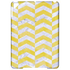 Chevron2 White Marble & Yellow Watercolor Apple Ipad Pro 9 7   Hardshell Case by trendistuff