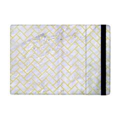 Brick2 White Marble & Yellow Watercolor (r) Ipad Mini 2 Flip Cases by trendistuff