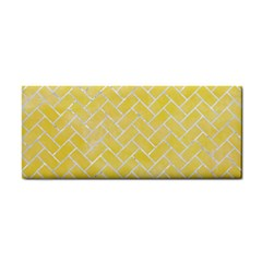 Brick2 White Marble & Yellow Watercolor Cosmetic Storage Cases by trendistuff