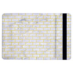 Brick1 White Marble & Yellow Watercolor (r) Ipad Air Flip by trendistuff