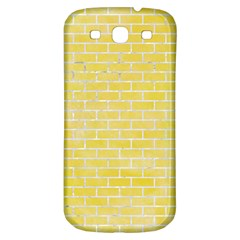 Brick1 White Marble & Yellow Watercolor Samsung Galaxy S3 S Iii Classic Hardshell Back Case by trendistuff