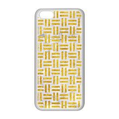 Woven1 White Marble & Yellow Marble (r) Apple Iphone 5c Seamless Case (white) by trendistuff