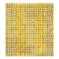 Woven1 White Marble & Yellow Marble Shower Curtain 66  X 72  (large)  by trendistuff