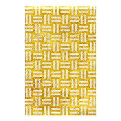 Woven1 White Marble & Yellow Marble Shower Curtain 48  X 72  (small)  by trendistuff