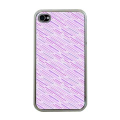 Silly Stripes Lilac Apple Iphone 4 Case (clear)