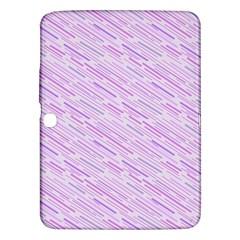 Silly Stripes Lilac Samsung Galaxy Tab 3 (10 1 ) P5200 Hardshell Case  by snowwhitegirl