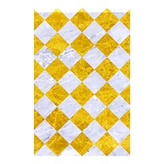 Square2 White Marble & Yellow Marble Shower Curtain 48  X 72  (small)  by trendistuff