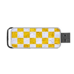 Square1 White Marble & Yellow Marble Portable Usb Flash (two Sides) by trendistuff