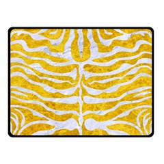 Skin2 White Marble & Yellow Marble Double Sided Fleece Blanket (small)  by trendistuff