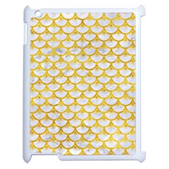 Scales3 White Marble & Yellow Marble (r) Apple Ipad 2 Case (white) by trendistuff
