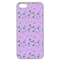 Heart Drops Violet Apple Seamless Iphone 5 Case (clear) by snowwhitegirl