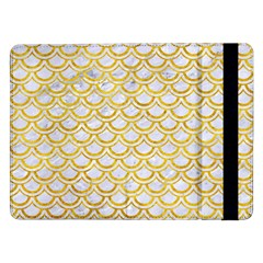 Scales2 White Marble & Yellow Marble (r) Samsung Galaxy Tab Pro 12 2  Flip Case by trendistuff
