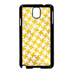 Houndstooth2 White Marble & Yellow Marble Samsung Galaxy Note 3 Neo Hardshell Case (black) by trendistuff