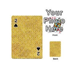 Hexagon1 White Marble & Yellow Marble Playing Cards 54 (mini)  by trendistuff