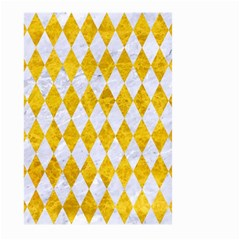 Diamond1 White Marble & Yellow Marble Large Garden Flag (two Sides) by trendistuff
