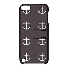 Grey Anchors Apple Ipod Touch 5 Hardshell Case With Stand by snowwhitegirl