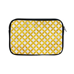 Circles3 White Marble & Yellow Marble (r) Apple Ipad Mini Zipper Cases by trendistuff
