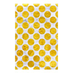 Circles2 White Marble & Yellow Marble (r) Shower Curtain 48  X 72  (small)  by trendistuff